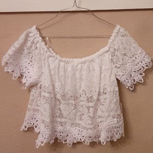 NWT Free People off the shoulder crop top size S
